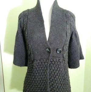 Design History Half Sleeve Cardigan Sweater